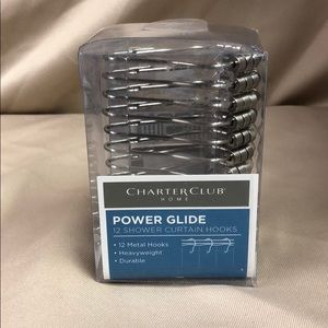 Power Glide 12 Shower Curtain Hooks 12 Metal Hooks